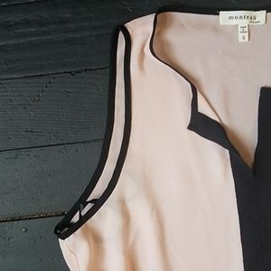 Anthropologie Tops - 🌼 Anthropologie Pink and Black Tank Blouse
